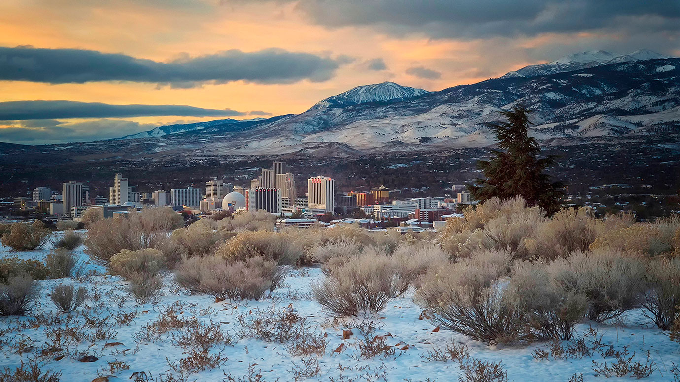 Reno Overview at University Ridge Park in Winter, Photo by Mary Horner