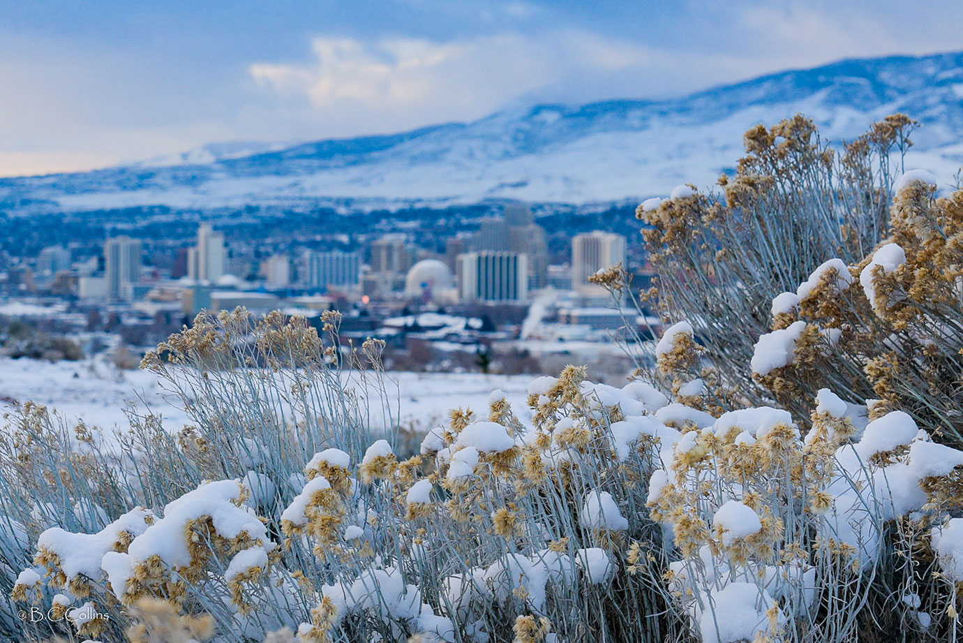 Reno Overview in Winter, Photo by Brandon Collins