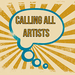Calling All Artists in a callout graphic