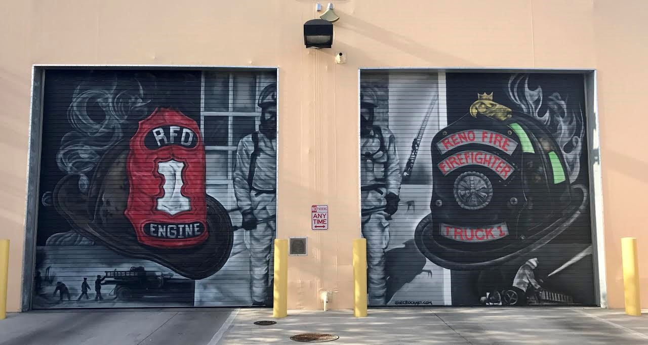 Completed Fire Station Doors