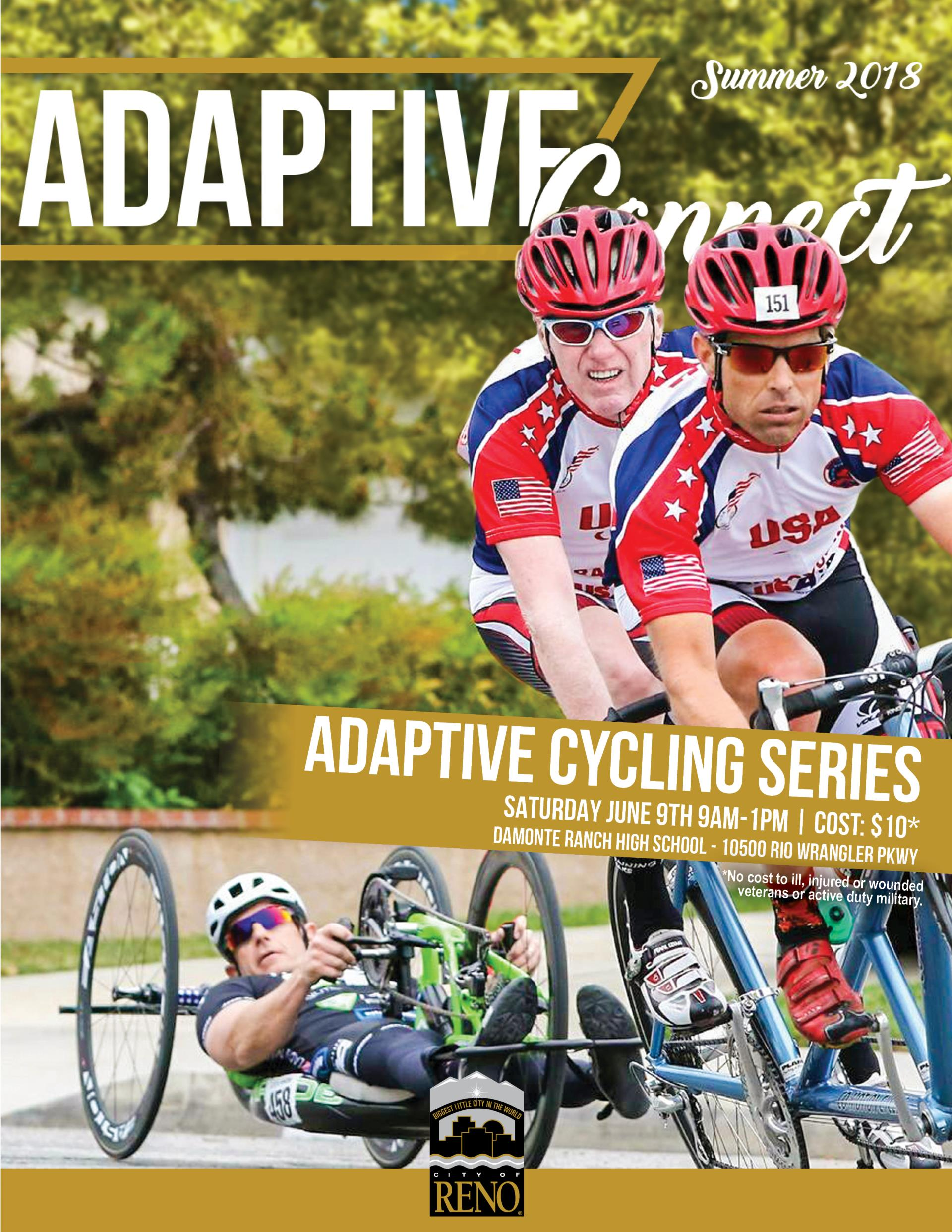 Adaptive Newsletter Cover with Adaptive Cycling Athletes
