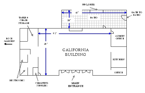 California Building Floorplan Diagram