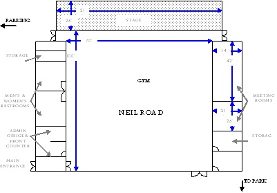 Neil Road Recreation Center Floorplan