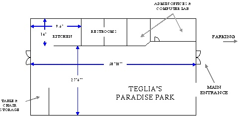 Teglia's Paradise Park Activity Center Floorplan