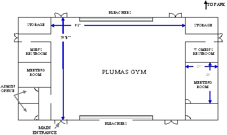 Plumas Gym Floorplan