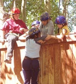 "Climbing ""The Wall"" at Project Discovery"