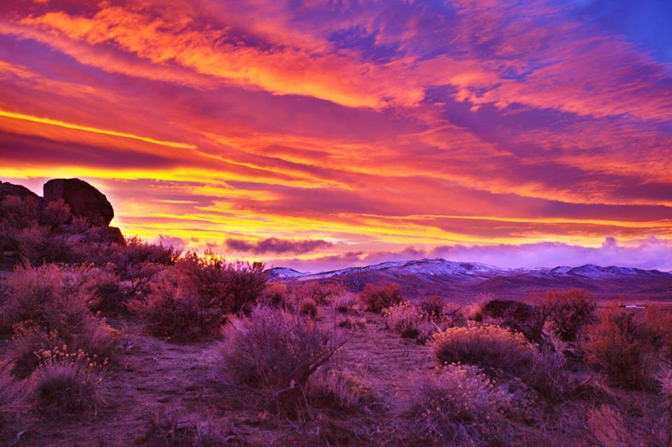 Northern Nevada Sunset by SB Sullivan