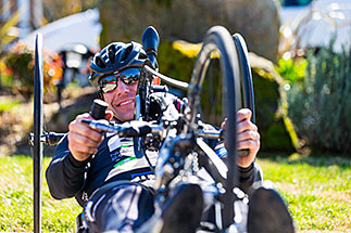 Person Handcycling