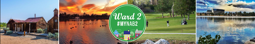Ward 2 Header Old building, lake with sunset, golf course, virginia lake