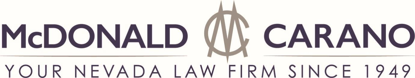 McDonald Carano Your Nevada Law Firm Since 1949 Logo