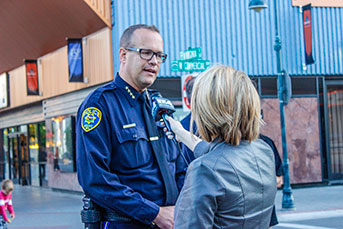 Police Chief being interviewed