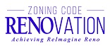 Zoning Code RENOvation Achieving ReImagine Reno logo