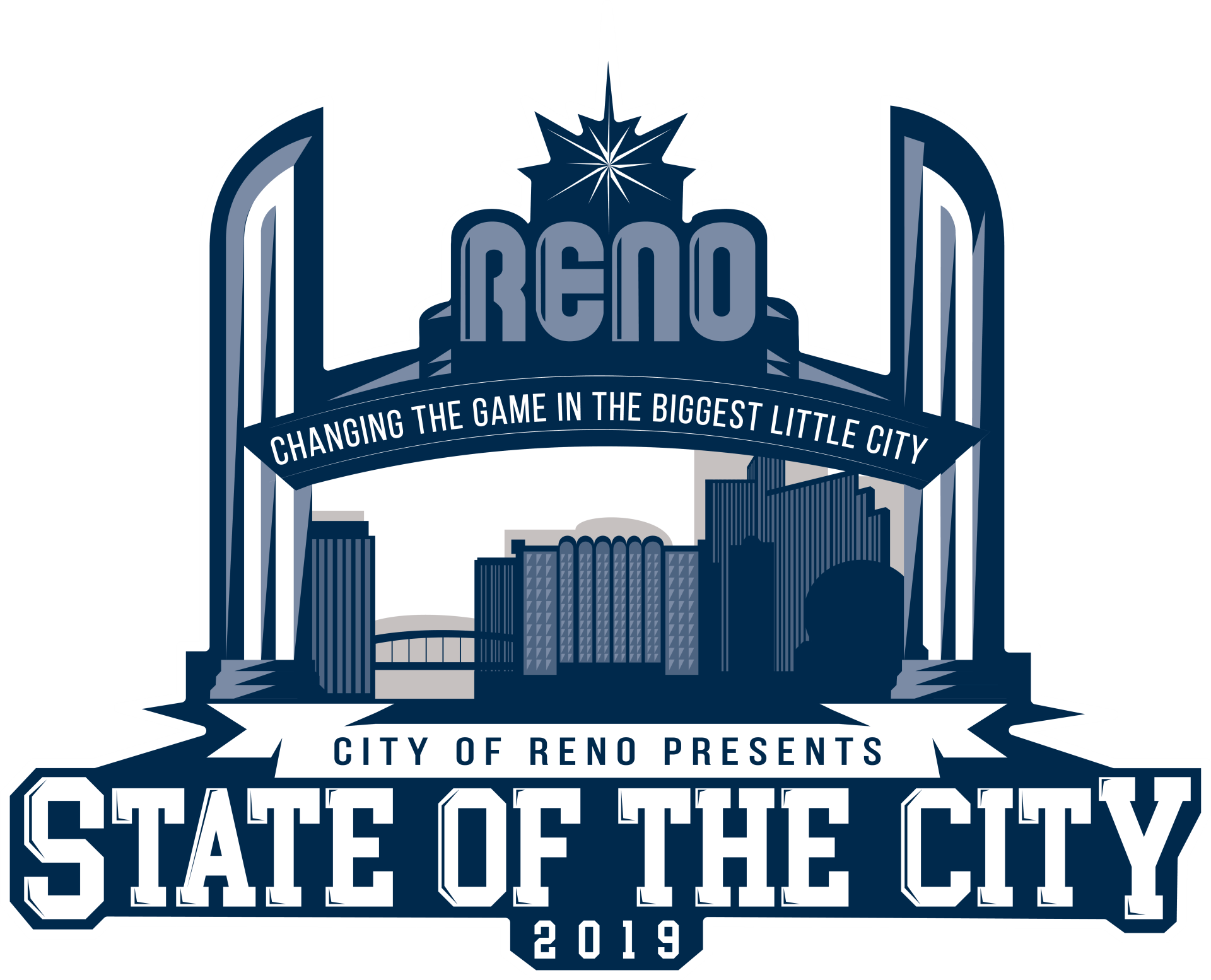 City of Reno presents State of the City logo