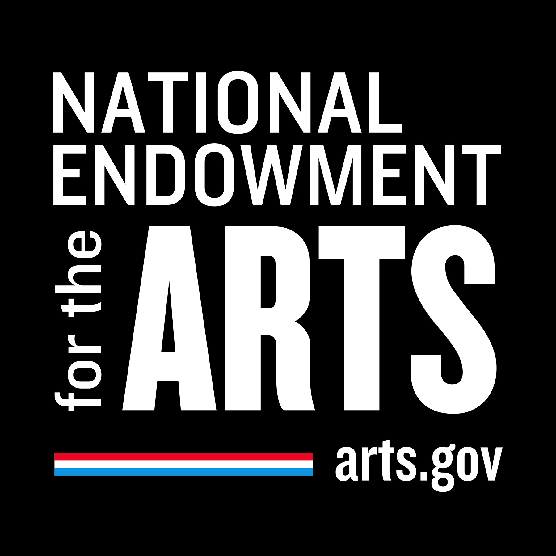 National Endowment for the Arts logo in black and white