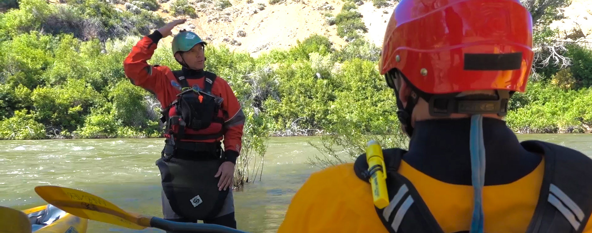 Reno Fire Department doing river water rescue training