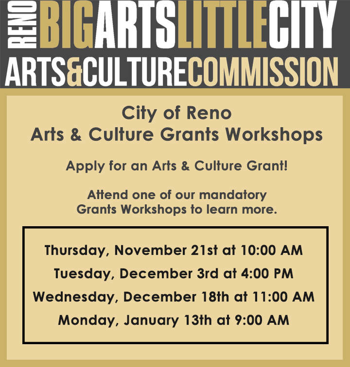 Arts and Culture Commission log with schedule of grants workshops