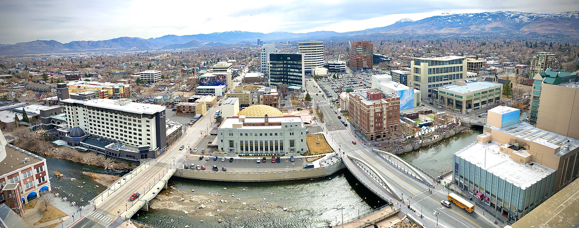 Overview of City of Reno from roof of City Hall building
