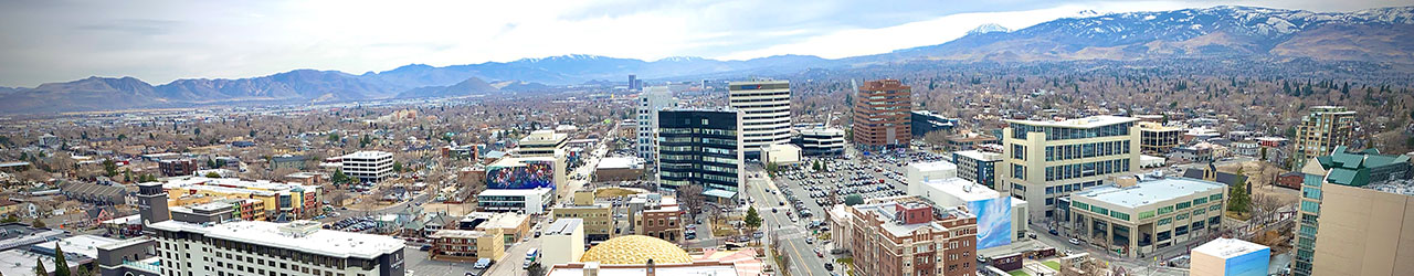 Broad view of the City of Reno