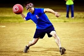 Man Throwing a Kickball