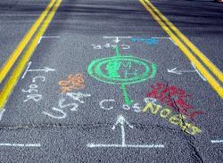 Chalk on Road
