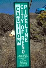 Pipeline Caution Sign